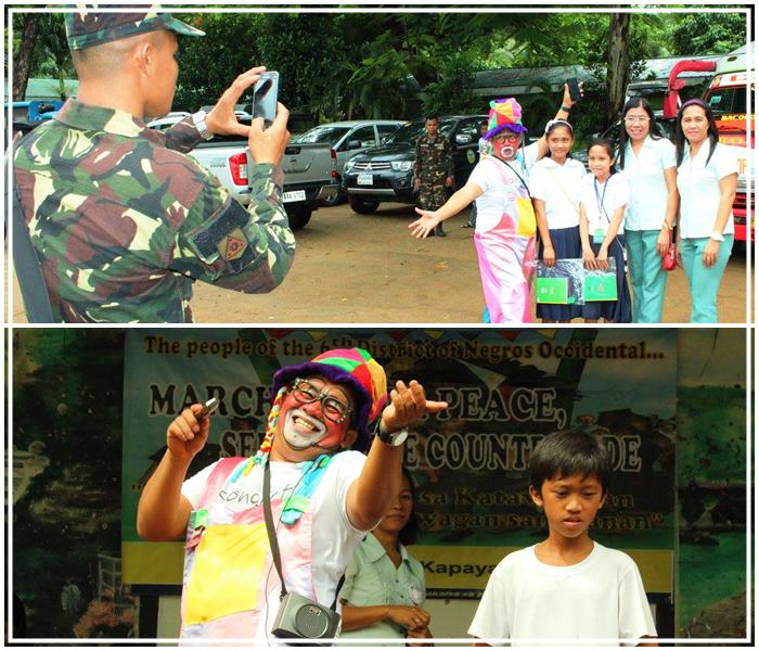 Ivan hired by Philippine Army to host for a peace talk in a local community