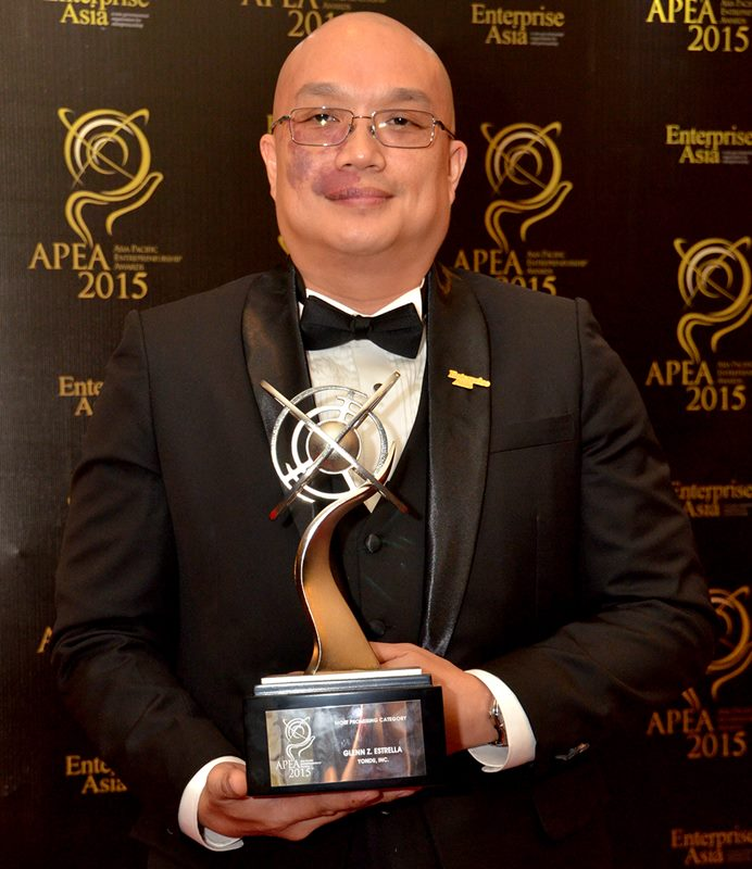 Most Promising Category of Asia Pacific Entrepreneurship Awards 2015