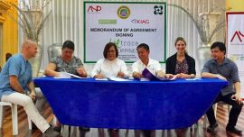 MOA Signing : Negros Occidental Provincial ,DOST for the launch of WeTrace Philippines
