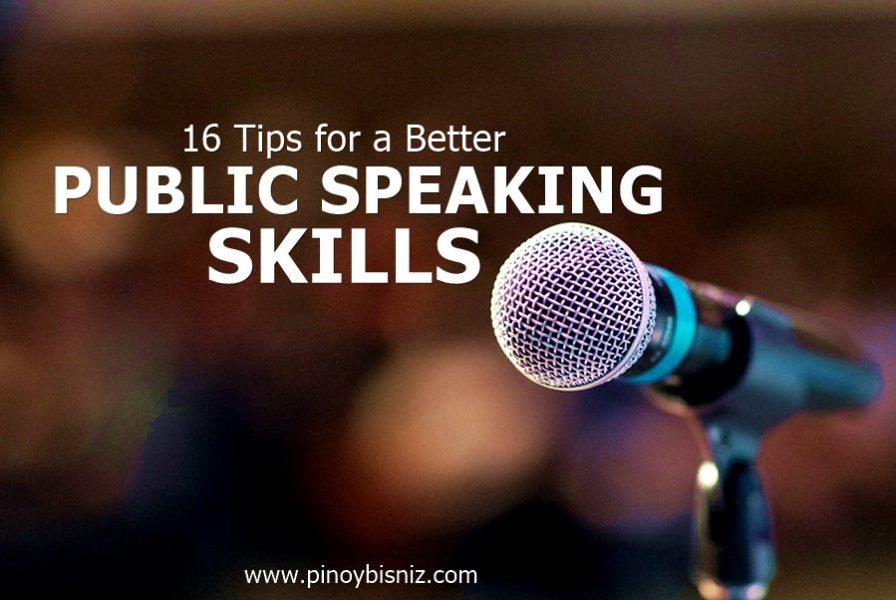 16 TIPS FOR A BETTER PUBLIC SPEAKING SKILLS